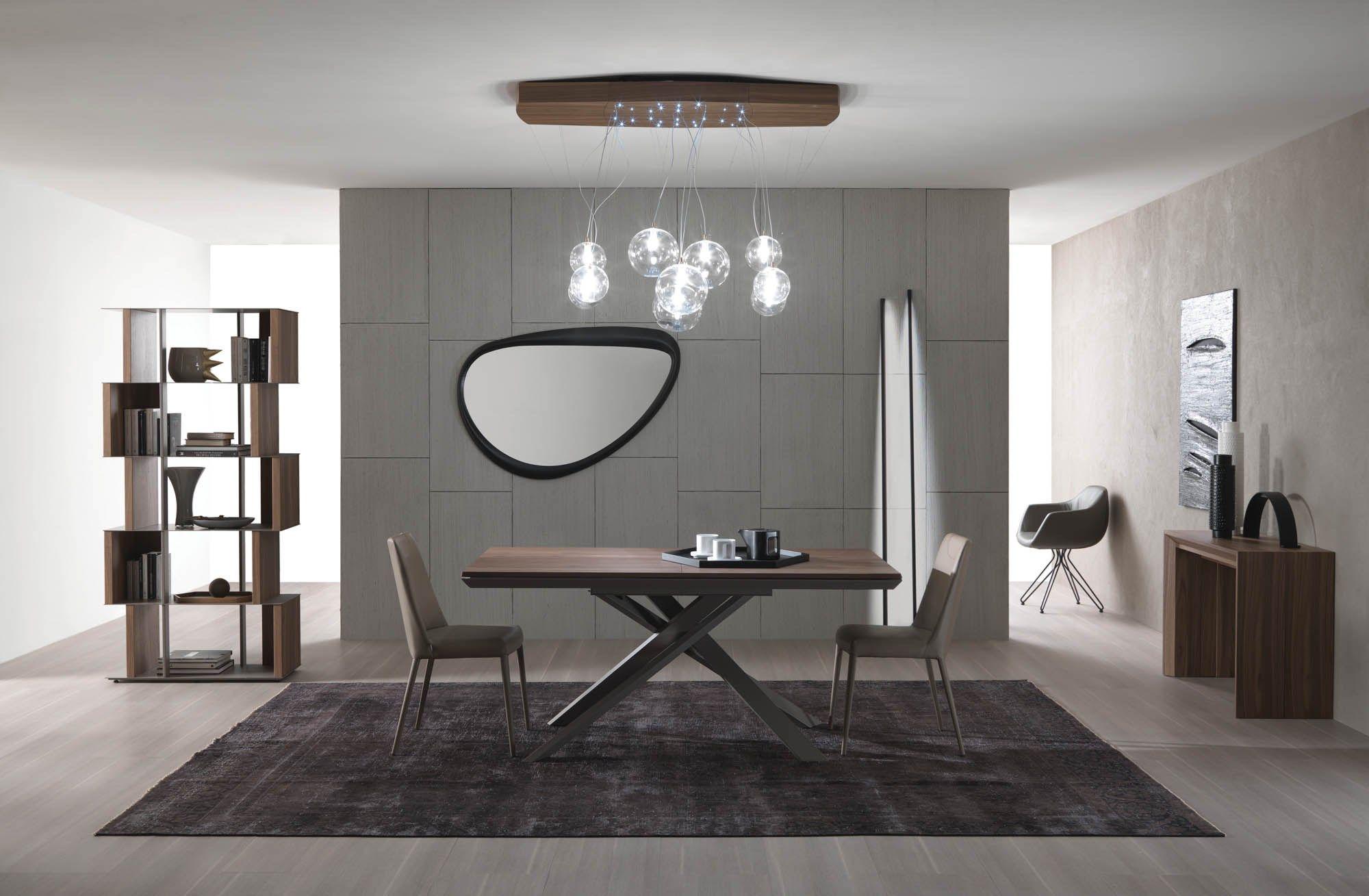 Tavolo allungabile rettangolare in legno 4X4 By Ozzio