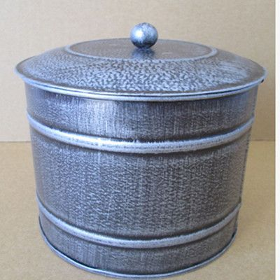 Craft Outlet Tin Container with Lid