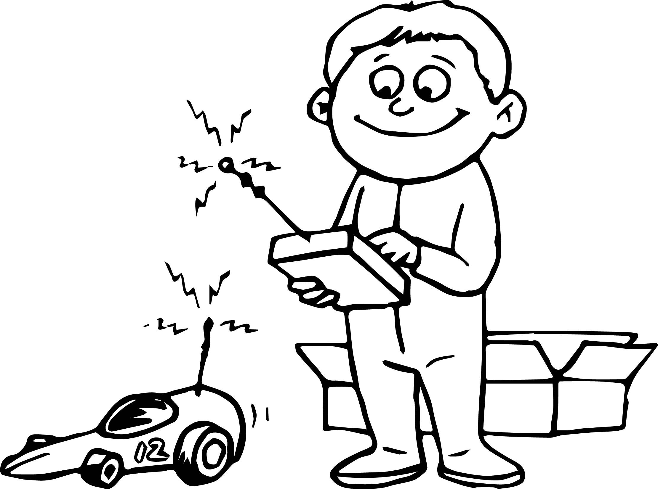 Awesome Remote Toy Car Child Coloring Page Coloring Pages Coloring Pages For Kids Coloring Sheets For Kids