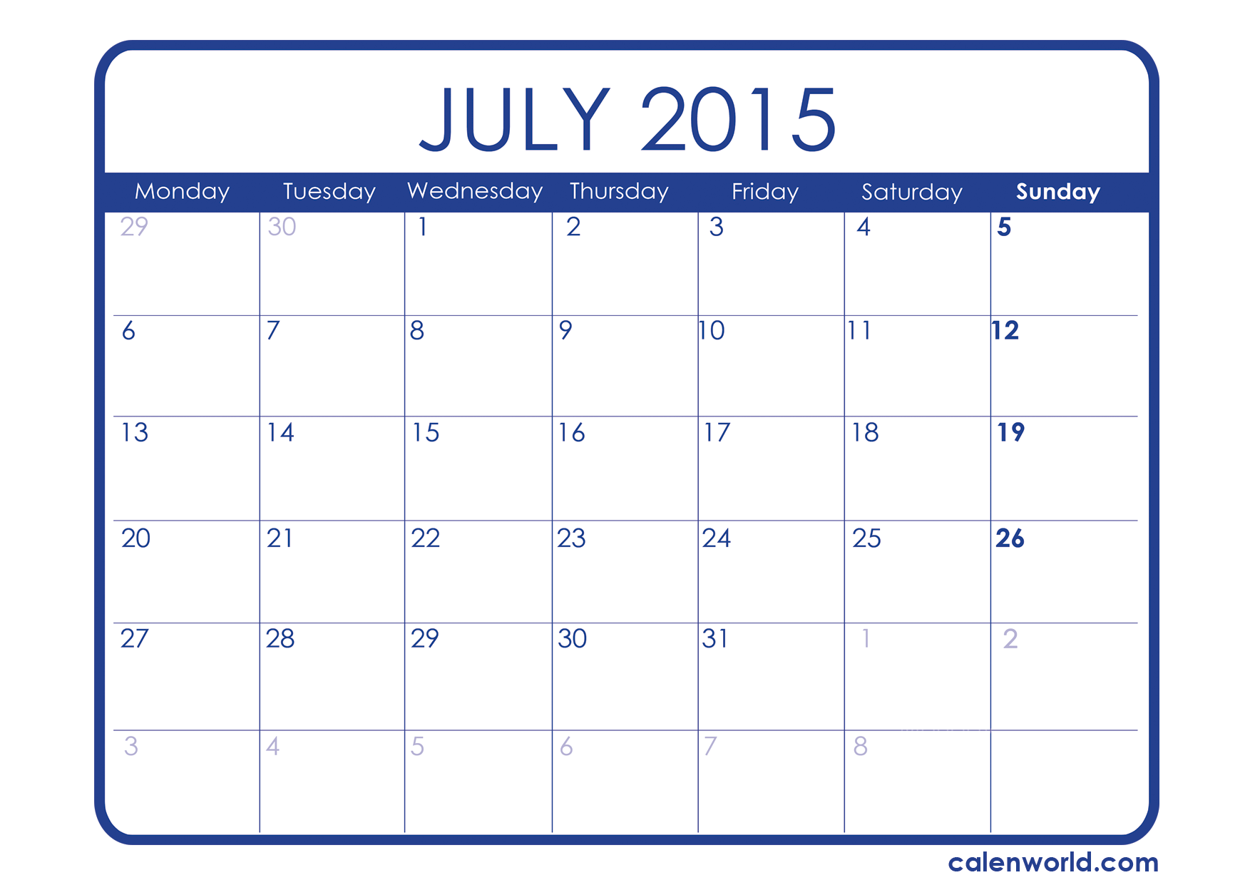July 2015 Calendar In Excel Printable July 2015 Calendar Template Planner Organization Blogger Tips Blog Planner