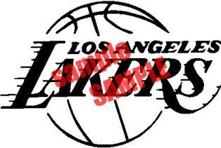 Los Angeles Lakers Nba Team 3 White Vinyl Decal Sticker Decal Is 6 Wide Decal Color Is Default As White Display Your Favorite Logo On Your Window Pleas