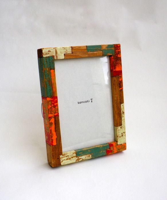 製作で出る短い材料もつないで生まれたTUGIHAGI デザインのフレーム『 TUGIHAGI FRAME 』- hana -  post card siz...|ハンドメイド、手作り、手仕事品の通販・販売・購入ならCreema。