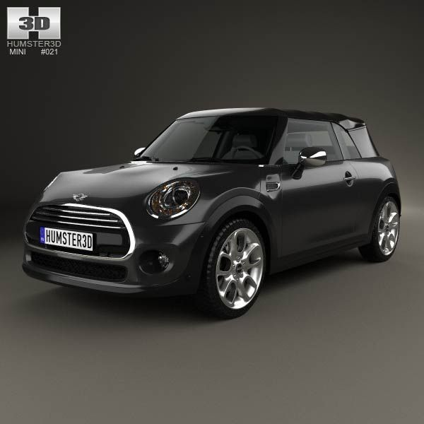 Mini Cooper Convertible 2014 3d Model: 3D Model Of Mini Cooper Convertible 2014
