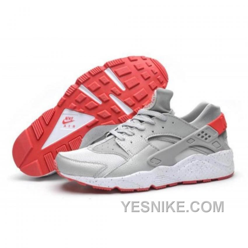 official photos d70cb f8abd SOLDES REMARQUER LE PAS CHER HOMME NIKE AIR HUARACHE GRISE BLANCHE CRIMSON  CHAUSSURES MAGASIN Only  75.00 , Free Shipping!
