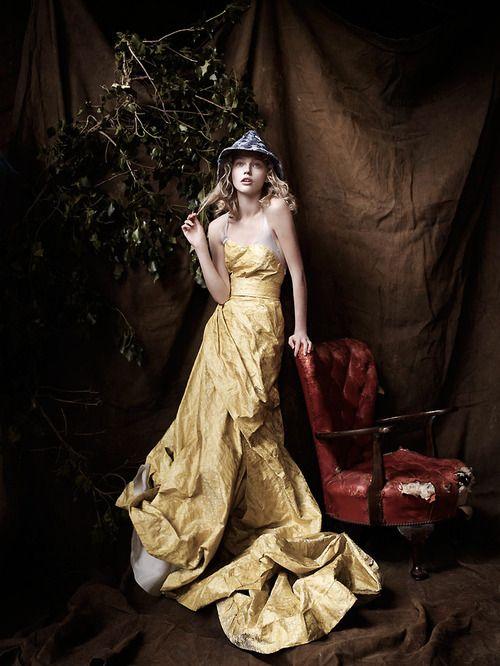 Sasha Pivovarova by Mario Testino for Vogue UK, Dec 2007