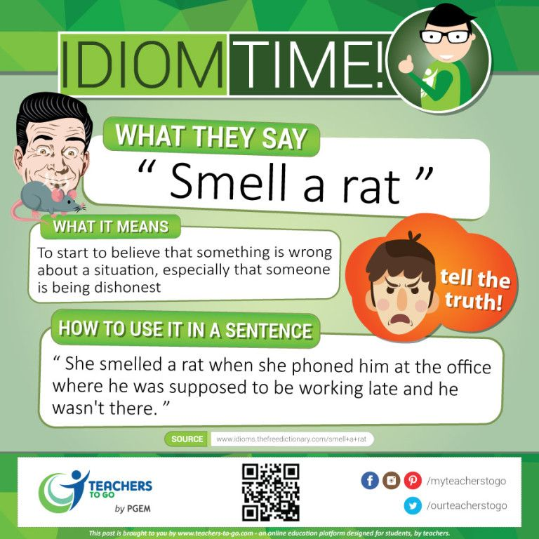 Idiom Time Smell A Rat Idioms English Vocabulary Words English Idioms