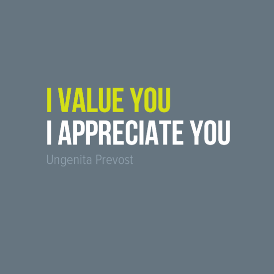 i value you