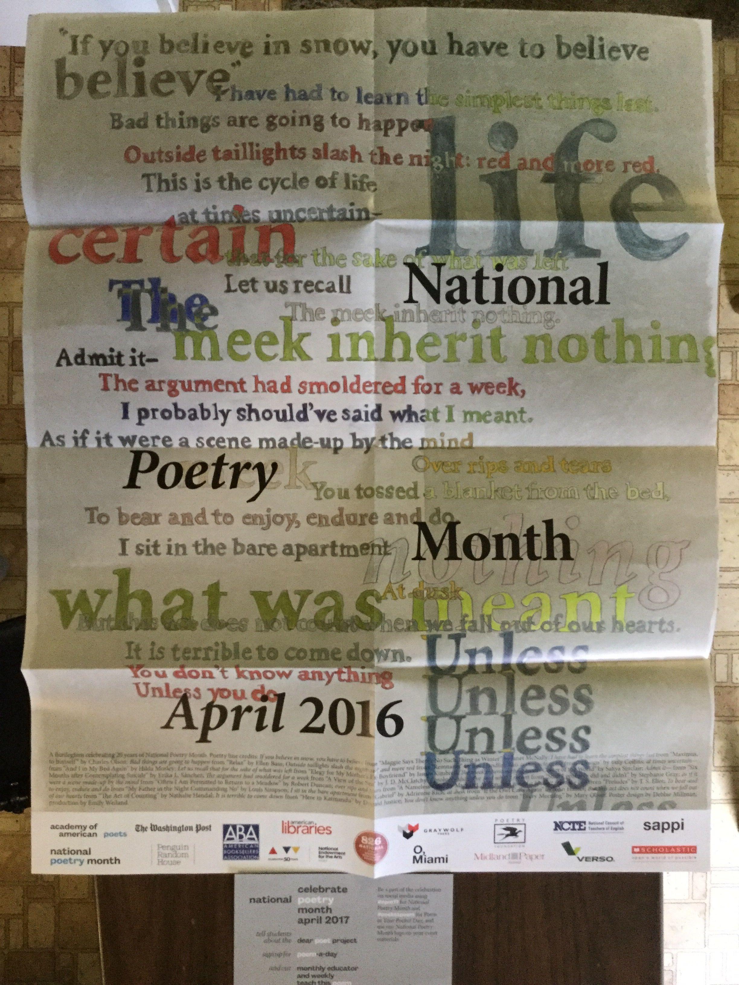 Free Academy of American Poets Poster #freestuff #freebies #samples #free