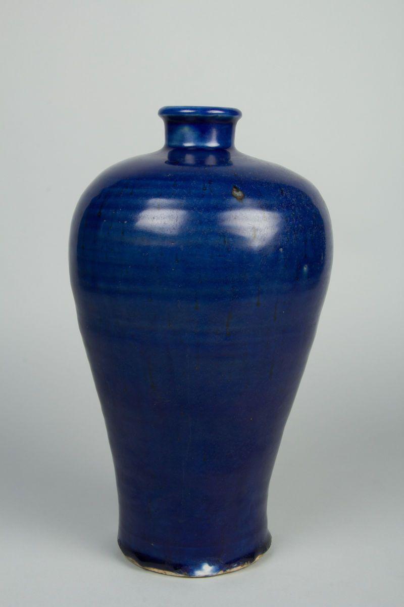 Meiping Vase Porcelain With Dark Blue Glaze China Vase Blue Vase Pantone Trends