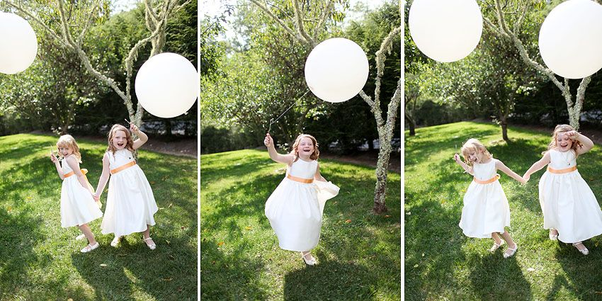 big balloons for the flower girls or bride and groom. www