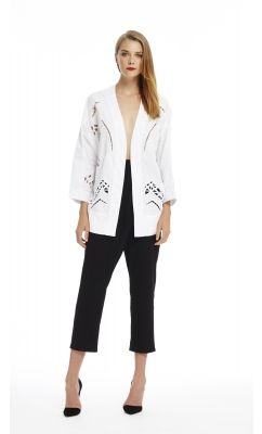 Firefly Robe - Chalk & Cross Over Pant - Jet