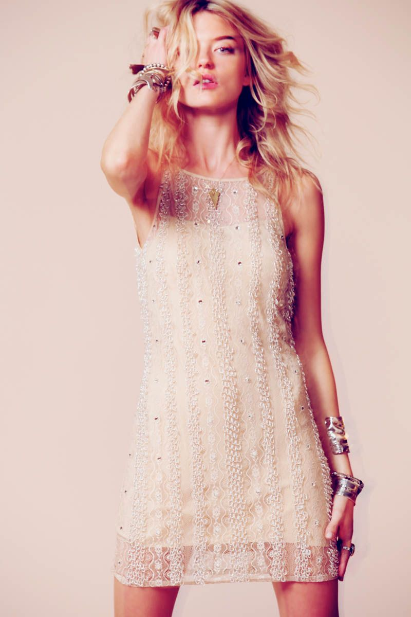 Martha hunt sparkles in free peopleus occasion line of dresses