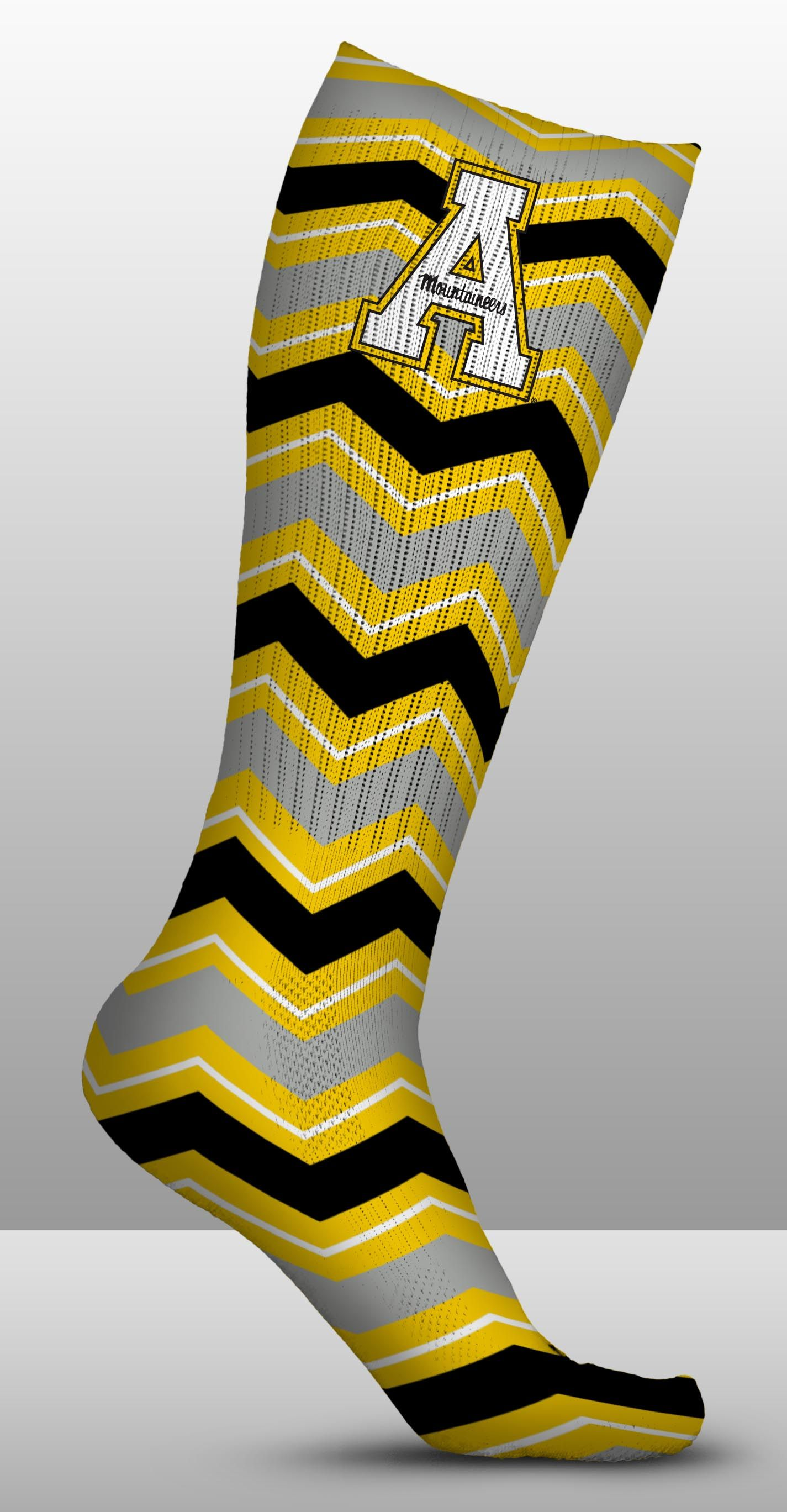 Appalachian State Mountaineers Socks Chevron Design (Pair)