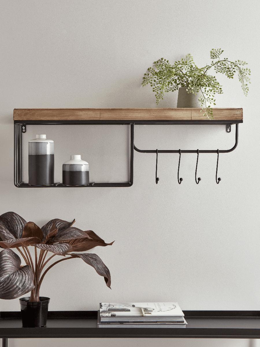 Shelf With Hooks Small