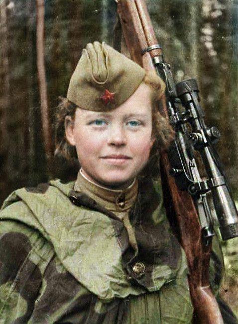 Герои Великой Отечественной войны в цветных фотографиях ...