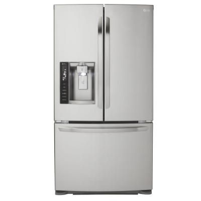 Lg Electronics 19 8 Cu Ft French Door Refrigerator In Stainless Steel Counter Depth Lfx21976st The Home Depot In 2020 French Door Refrigerator Buying Appliances French Doors