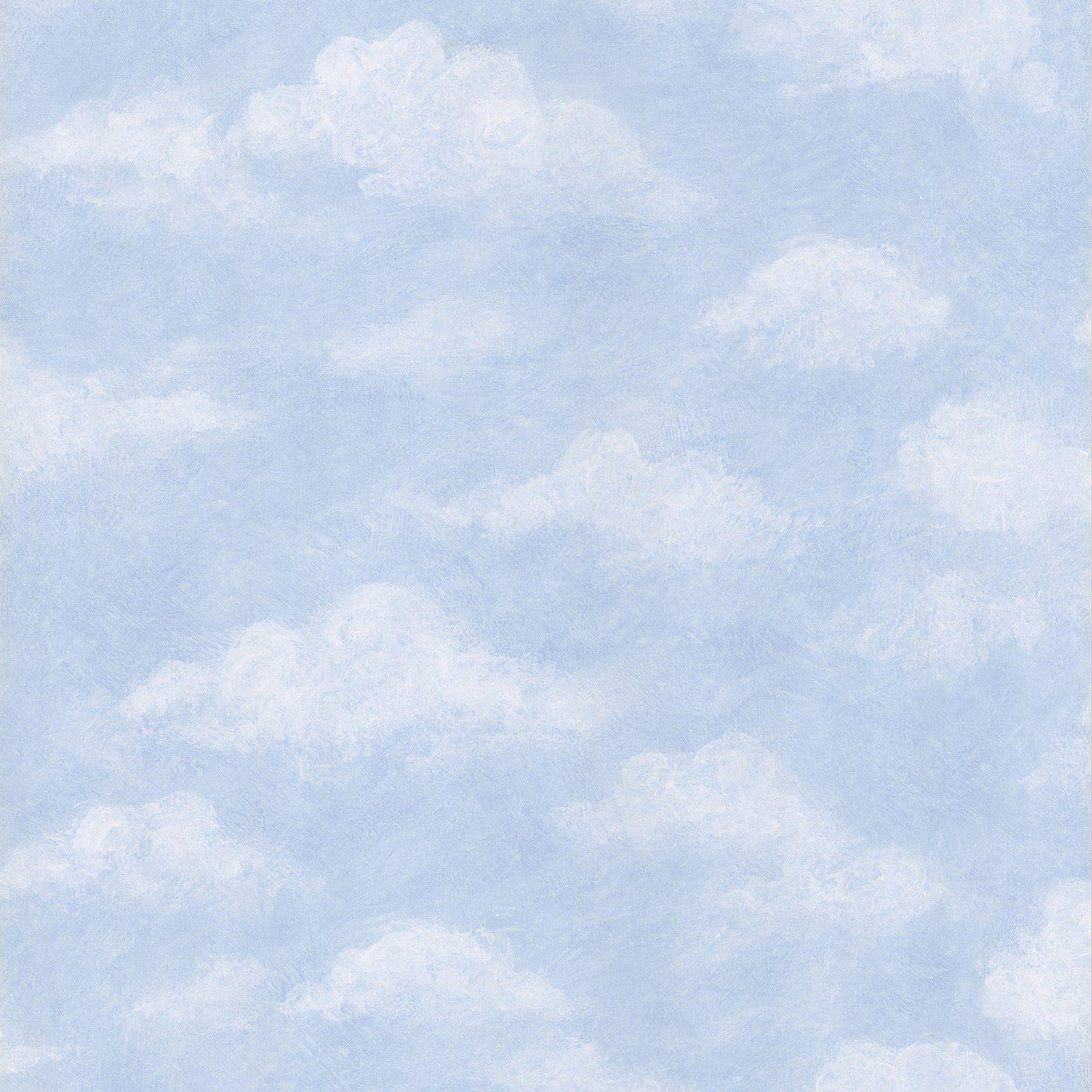 Brewster Azure Sky Wallpaper Blue sky wallpaper, Light