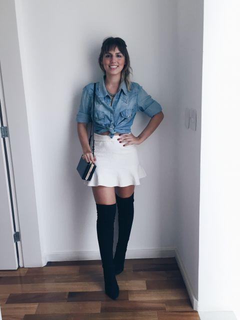 f2af95804fb3a look-para-rodeio-camisa-jeans-e-saia