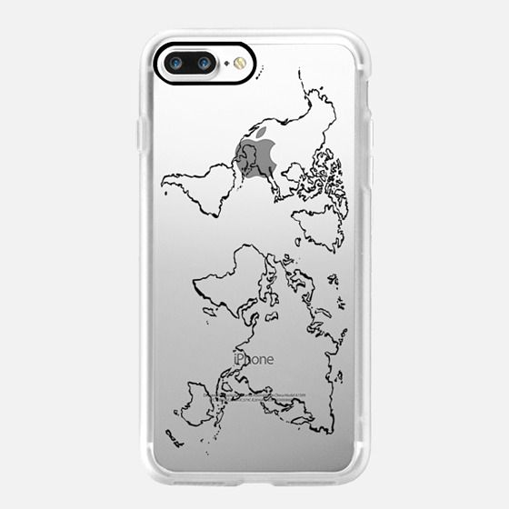 coque carte du monde iphone 8