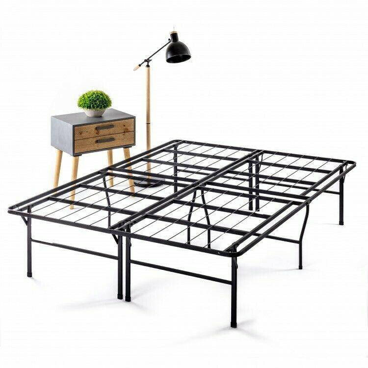 Details About Twin Metal Platform Bedframe Bi Fold Bed Black