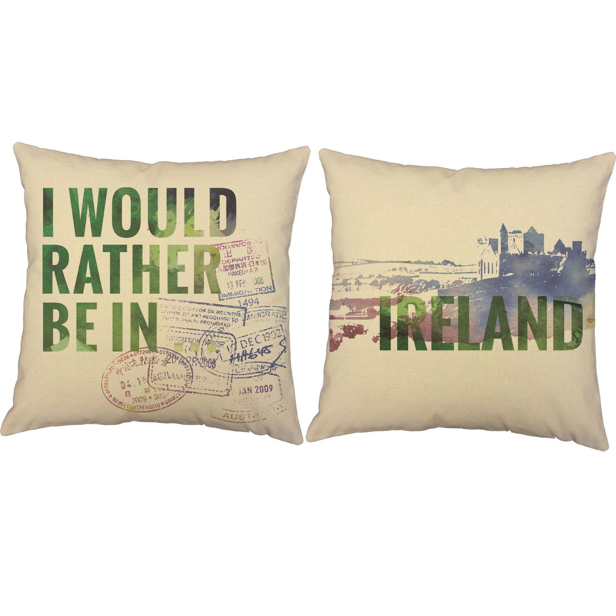 Rather be in ireland throw pillows pinterest throw pillow sets