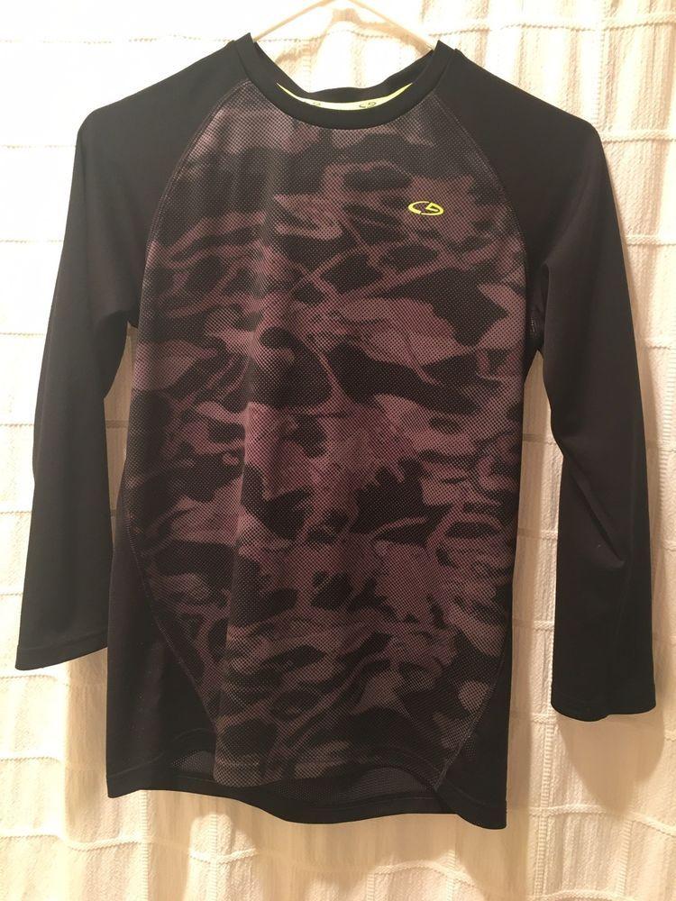 614e1da56e30 Boys C9 by Champion Duo Dry Shirt - Large (12-14) - Black/Gray - Long Sleeve  #fashion #clothing #shoes #accessories #kidsclothingshoesaccs ...