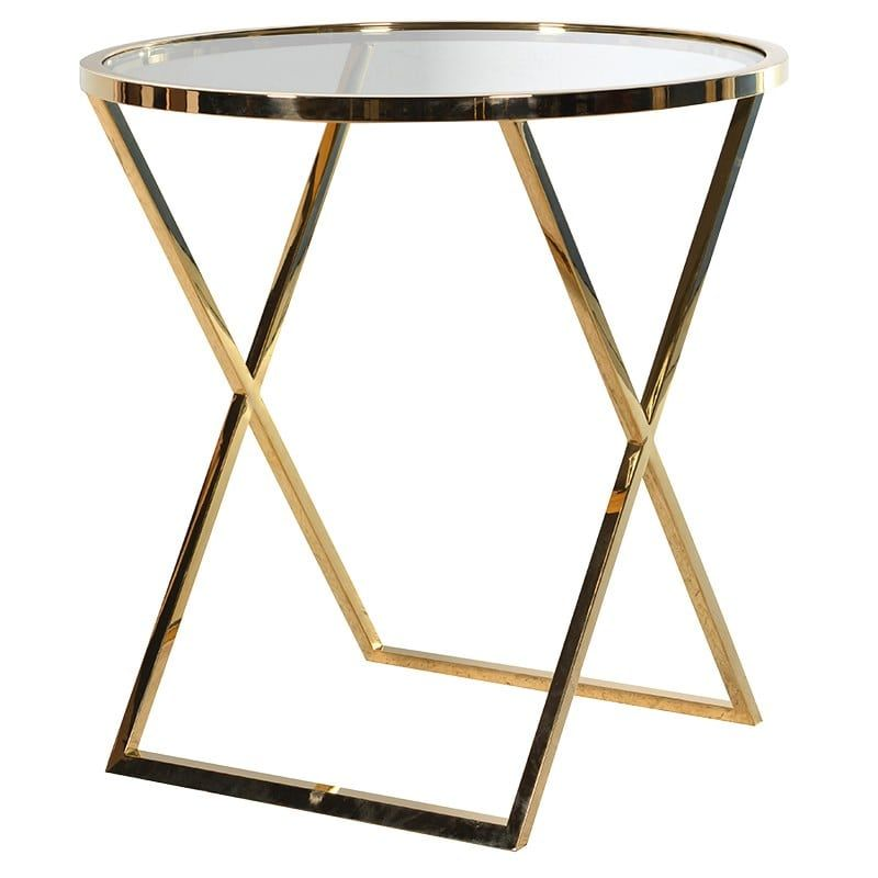 Large Gold Effect Side Table is part of Home Accessories Styling Side Tables - Large Gold Effect Side Table
