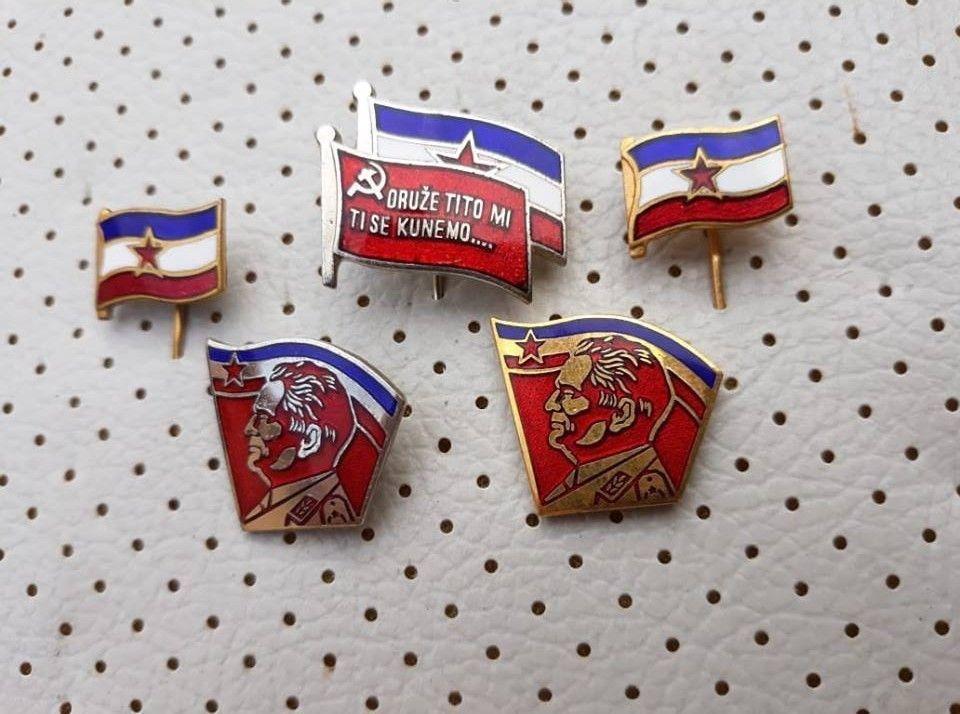 fdf46cf64e83 Yugoslavia Vintage Enamel Flags Josip Broz Tito SFRJ Jugoslavija pins  collection