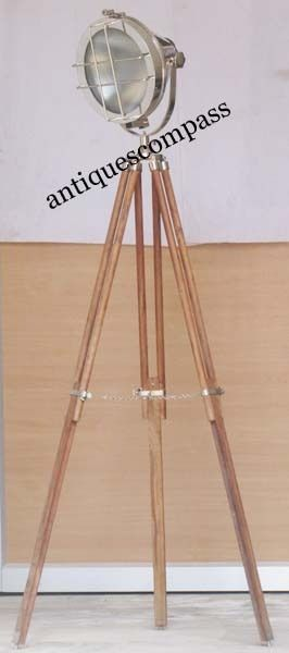 Click to view larger image Have one to sell? Sell now Details about  Aluminium Studio Theater Search Light W Wooden Stand Photography Spot Floor Lamp
