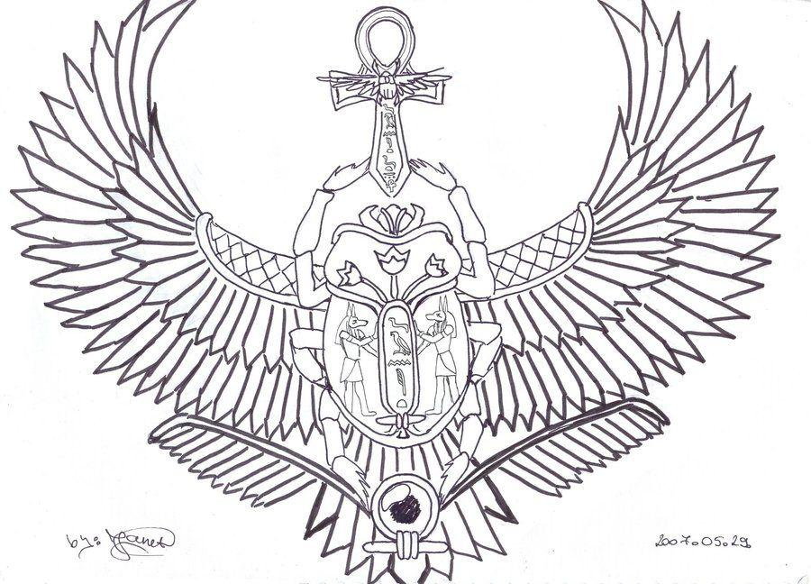 Winged Scarab Tattoo by ~Janet-Asuka on deviantART | i n k ...