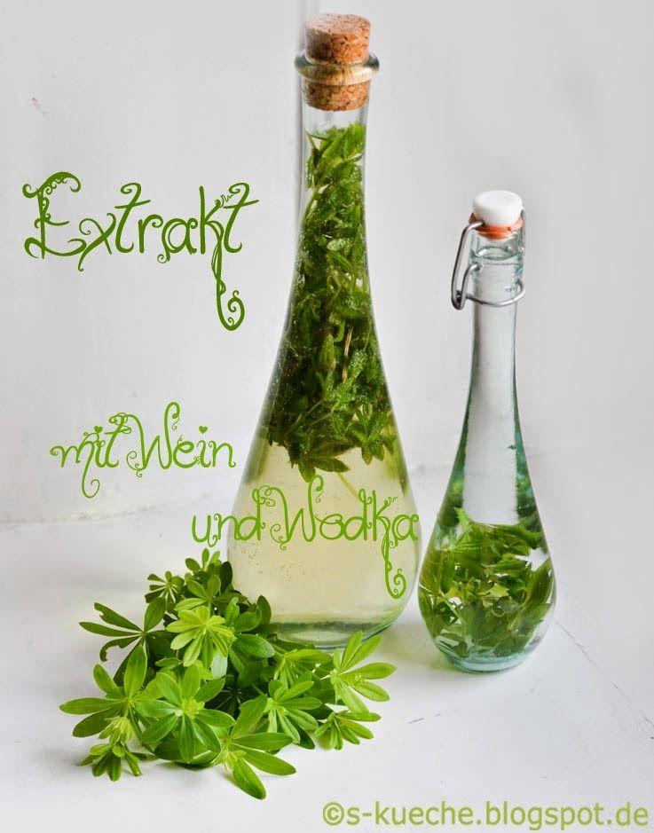 Waldmeister Sirup Und Extrakt Mit Bildern Waldmeister Sirup Rezept Waldmeister Krauterzauber
