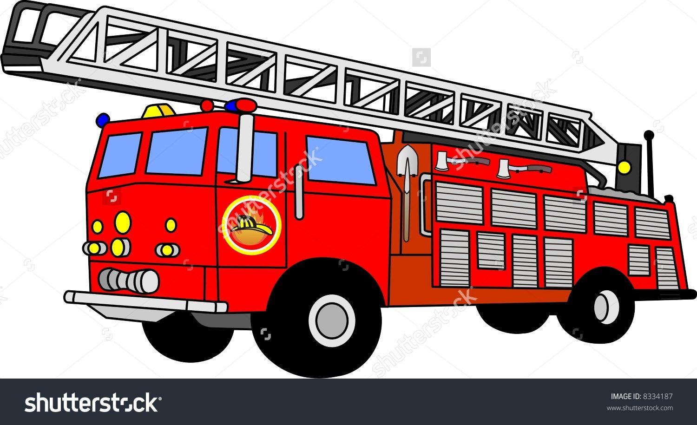 Stock Vector Vector File Of Fire Truck 8334187 Jpg 1500 915