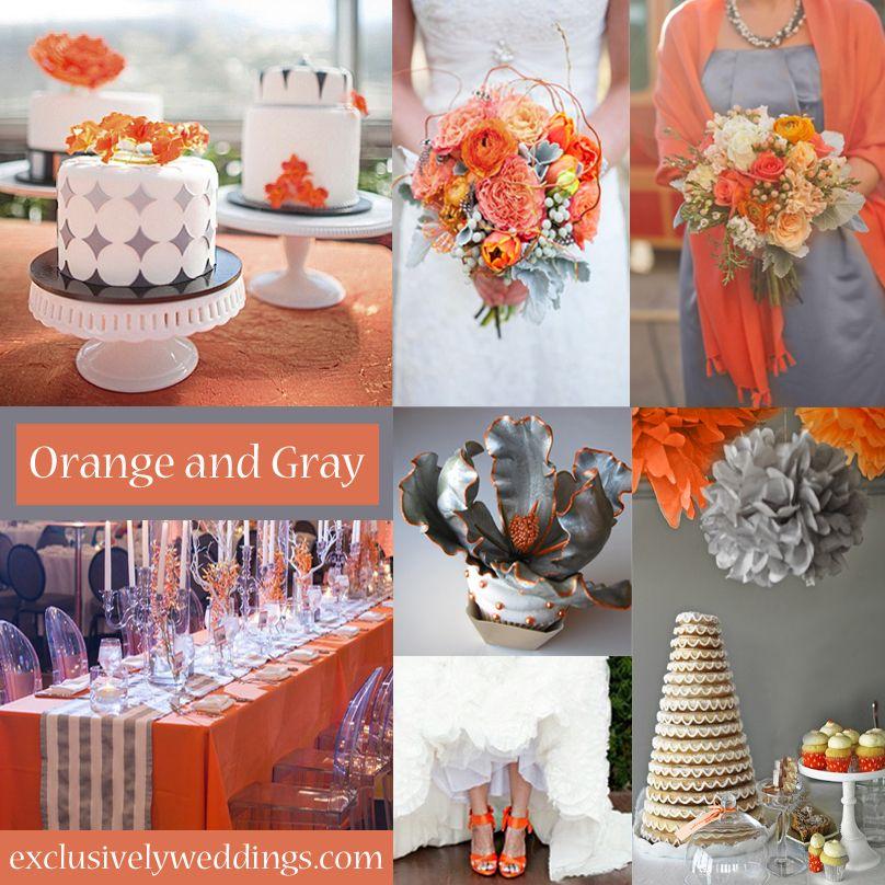 Innisbrook Wraps Presentation Is Everything Orange Grey Wedding Wedding Theme Colors Orange Wedding
