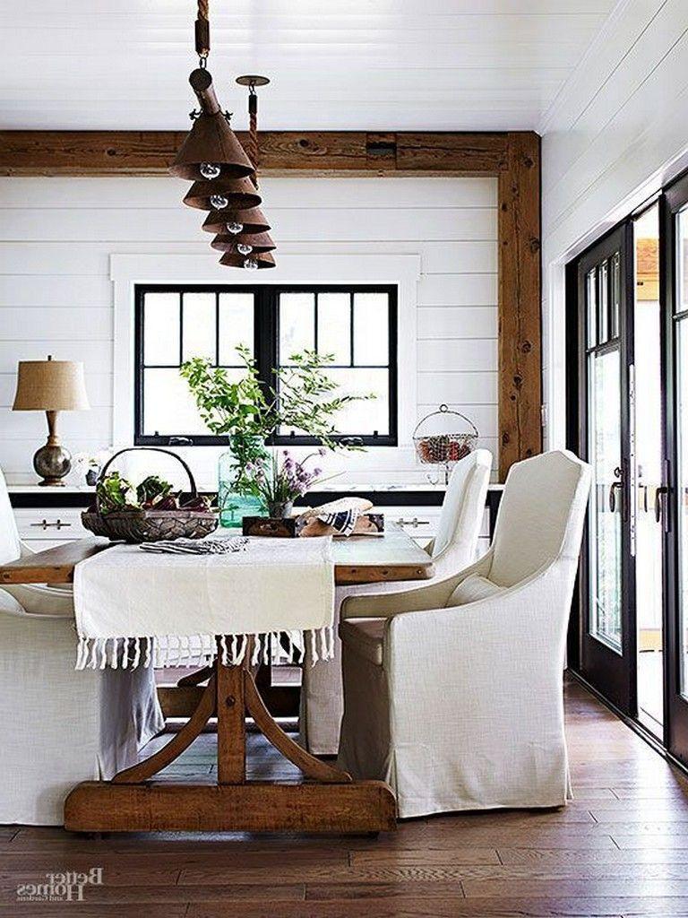 40 Stunning Farmhouse Dining Room Decor Ideas Room Decor Dining