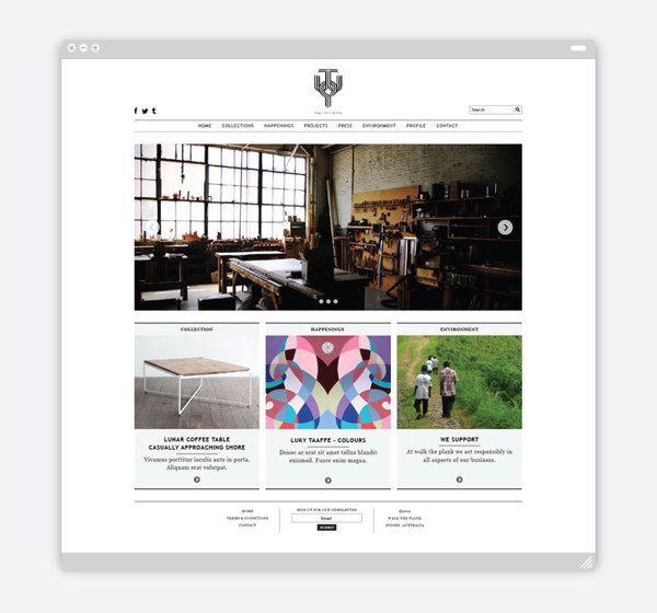 Walk The Plank Collective By Retno Hadiningdiah Via Behance Web Design Walking The Plank Design