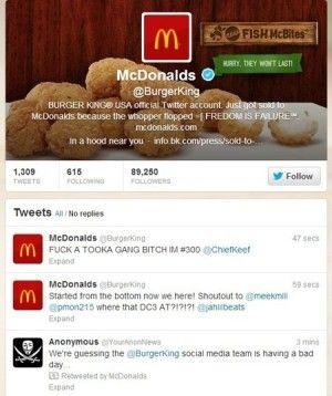 Insólito: Hackean el Twitter de Burger King y colocan el logo de McDonald's - Fotos