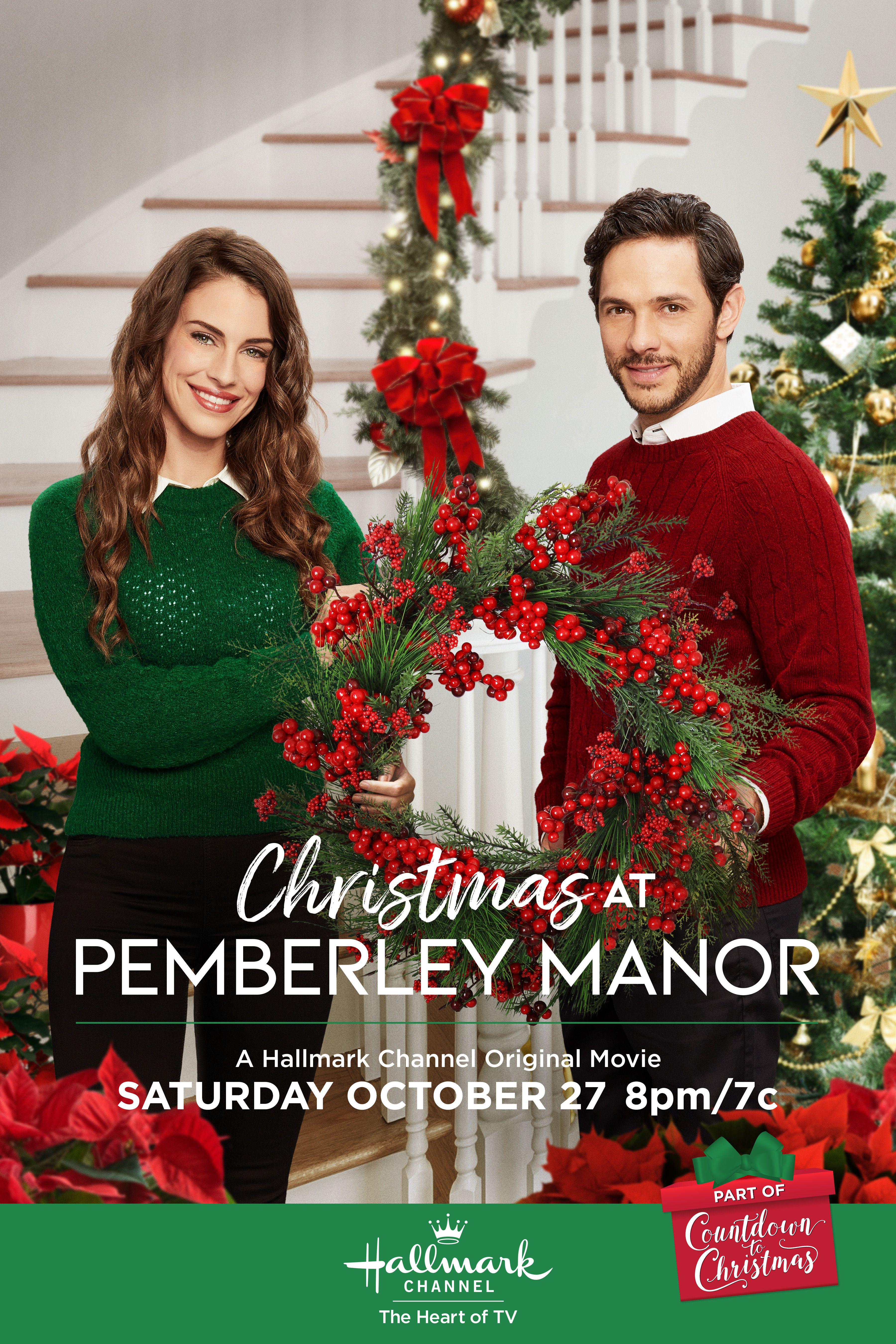 Jessica Lowndes And Michael Rady Star In Christmas At Pemberley Manor The First Hallmark Channel Christmas Movies Hallmark Christmas Movies Christmas Movies