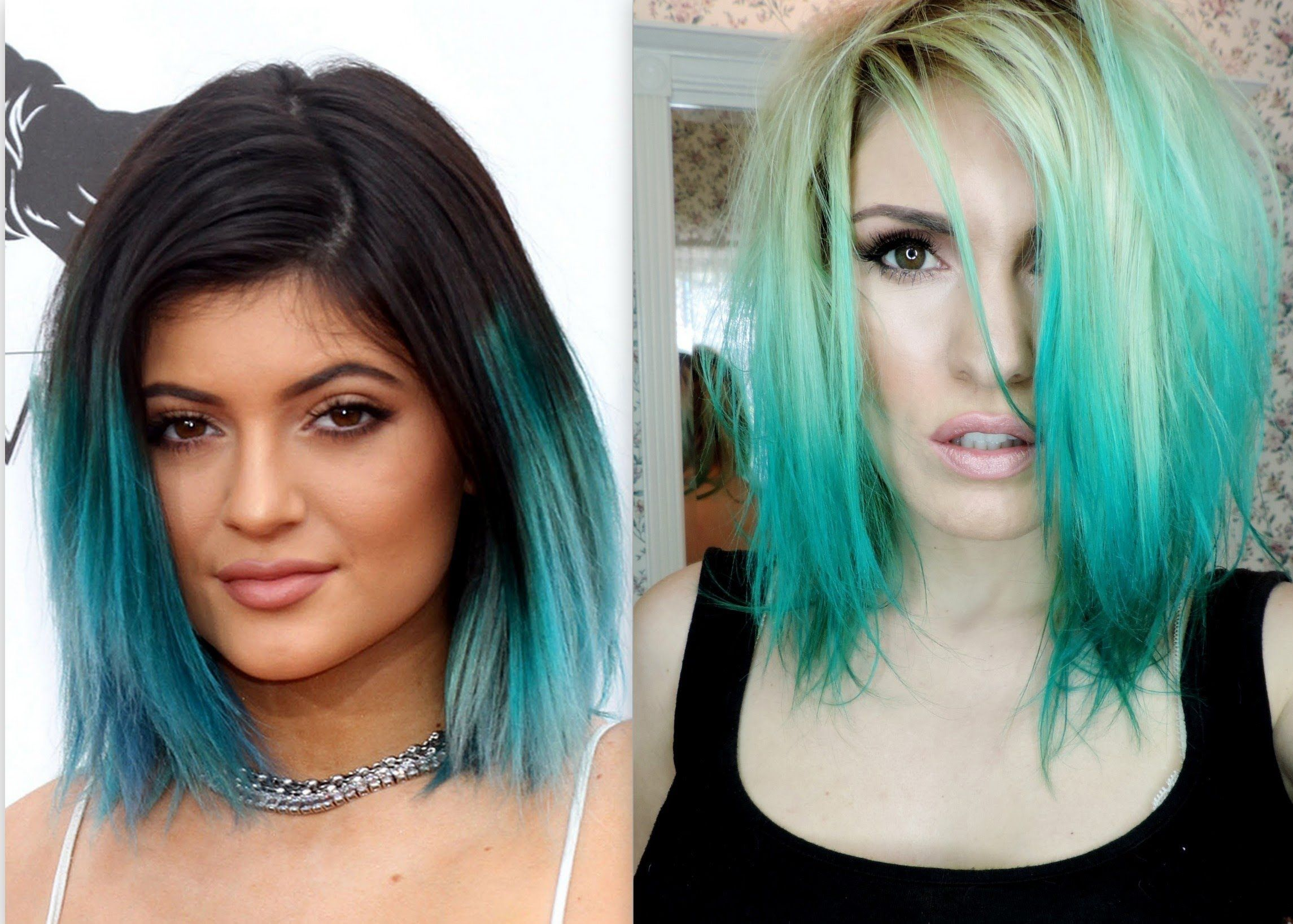 Teal Ombre Hair Tutorial