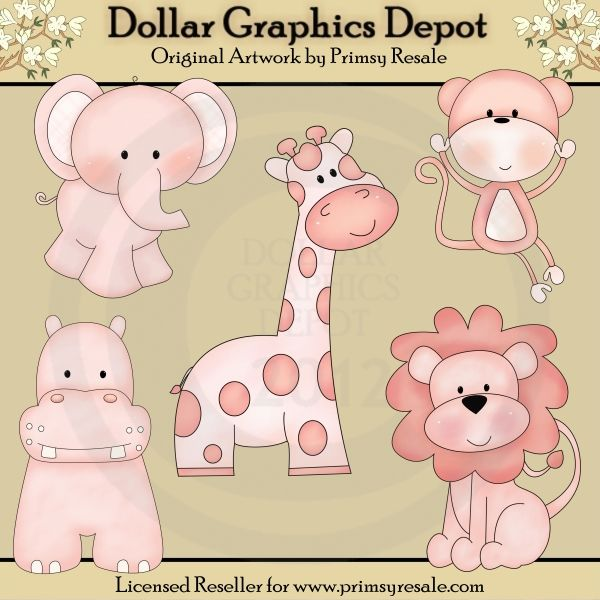 Girl Jungle Babies - Clip Art - $1.00 : Dollar Graphics Depot, Quality Graphics ~ Discount Prices