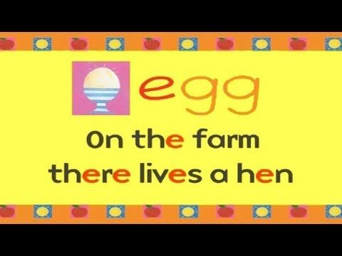 Alphabet song E for Egg - how do you like your eggs done