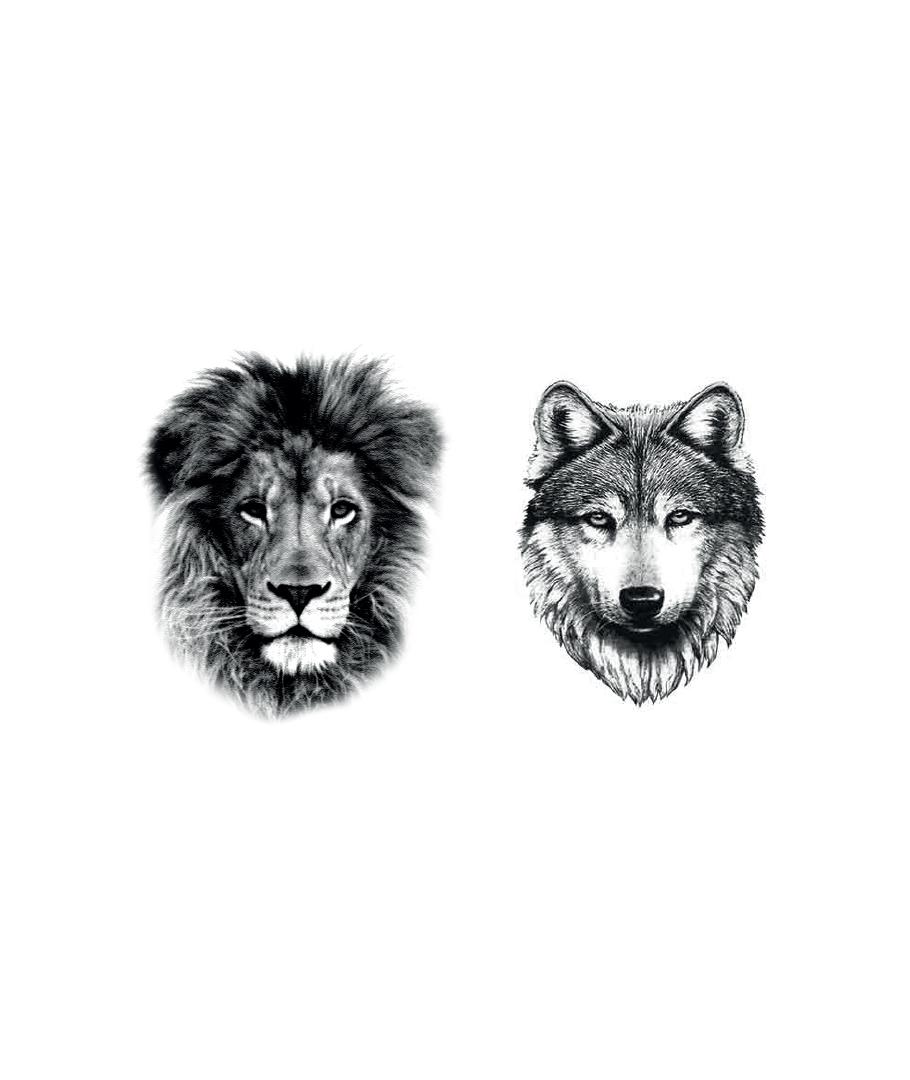 Lion Wolf Tattoo X2 Dcer 5 Euros Finger Tattoos Celebrity Tattoos Small Tattoos