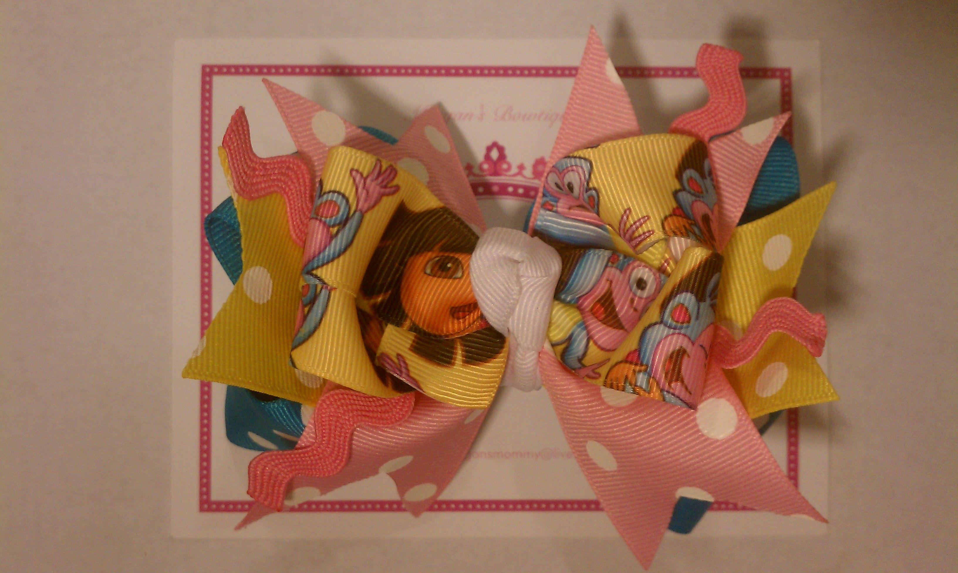 Dora over the top bow hair bows pinterest hair bow