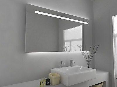 Led Illuminated Bathroom Mirror With Sensor And Demister Pad C50