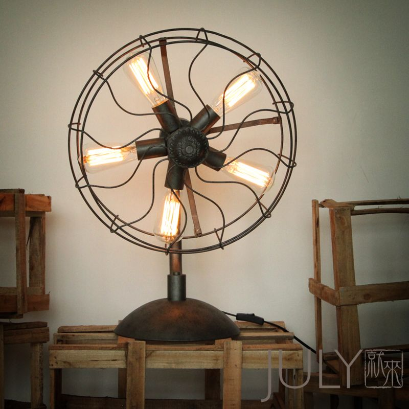 industrial electric fan table lamp | İndustrial İnterior Design ...