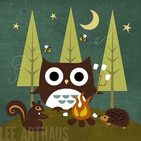 100 Campfire Owl and Friends