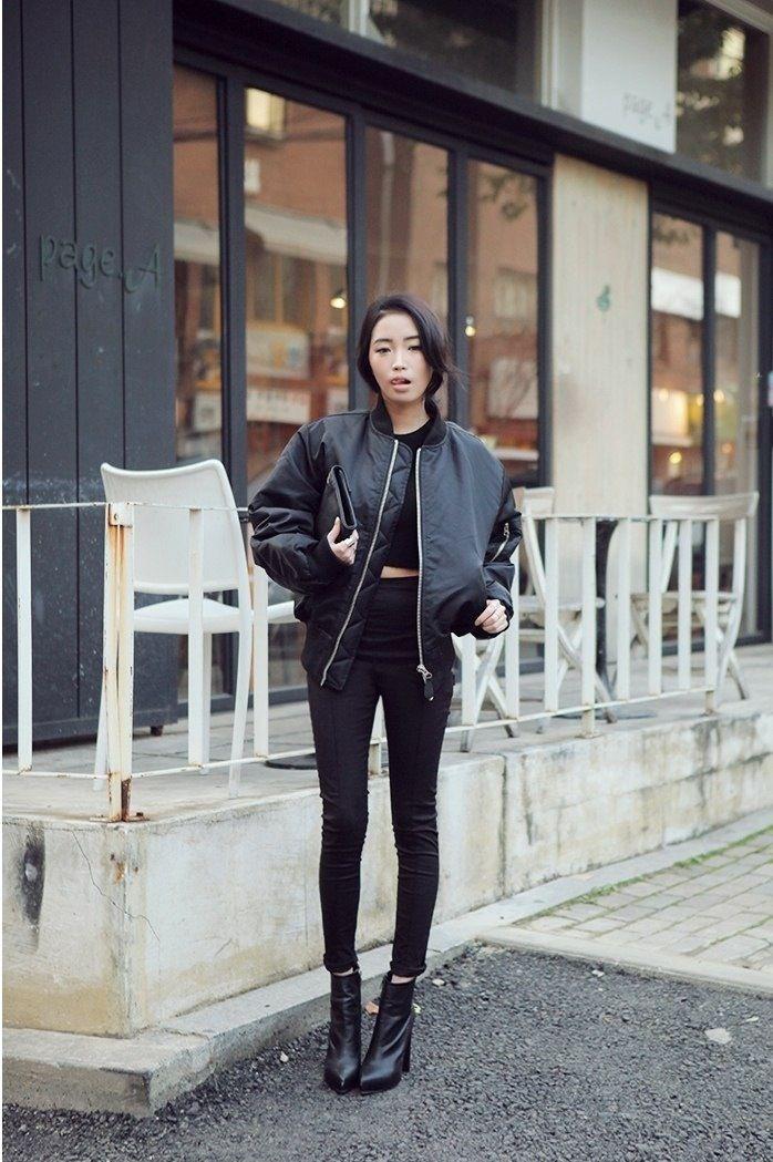 c2b830d507a Black on black. Bomber jacket.