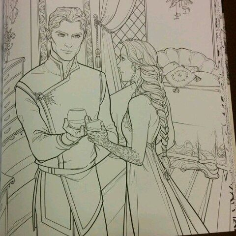 Some Acotar Colouring Book Teasers The Shoe Throwing Scene And