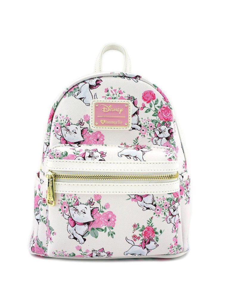 623578efea2 Loungefly Disney Aristocats Marie White   Pink Mini Backpack Purse –  moodswingsonthenet