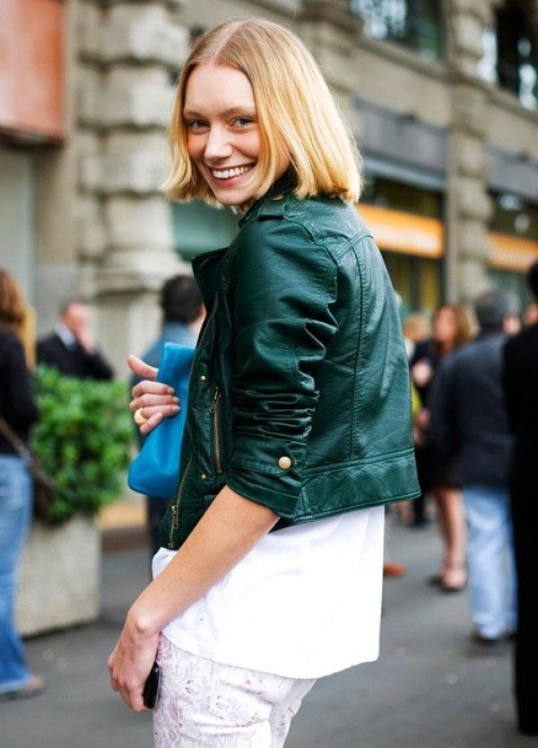 d1dd3f24 St. Patrick's Day Style Tips | NEW ON GLITTER GUIDE | Green leather ...
