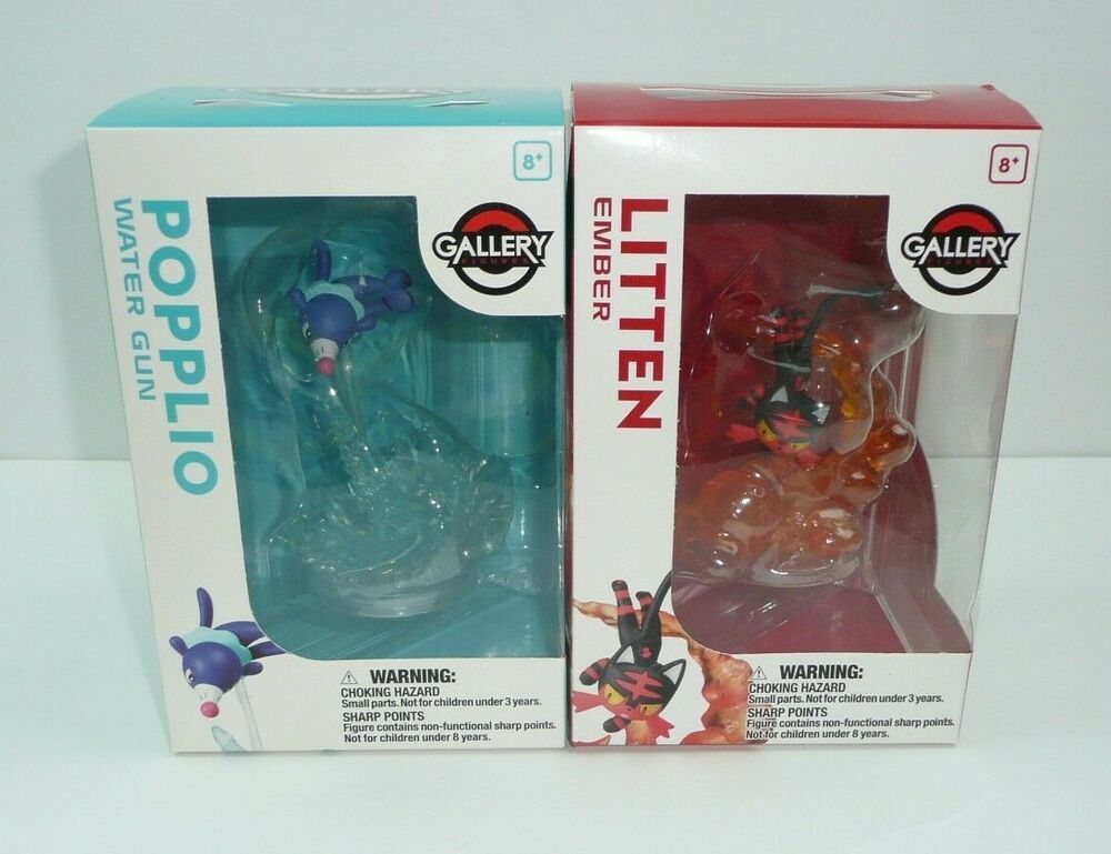 Pokemon Select Collection Figure POPPLIO w// Display Case Wicked Cool Toys